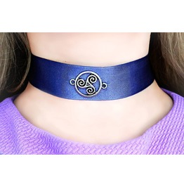 Submissive Day Collar Bdsm Symbol Choker Triskele Triskelion Emblem Fetish