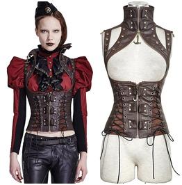Women's Steampunk Clothing Crypt Vest Vintage Gothic Renaissance Costume Pu