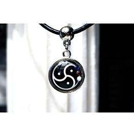 Bdsm Symbol Triskele Triskelion Submissive Collar Charm Slave Necklace