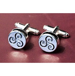 Mens Cufflinks Bdsm Triskele Triskelion Symbol Submissive Dominant Birthday