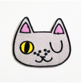 Cat Cartoon Embroidered Iron On Patch.