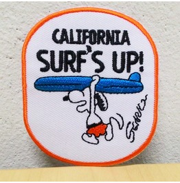 Vintage Snooppy Surf's Up Iron On Patch.