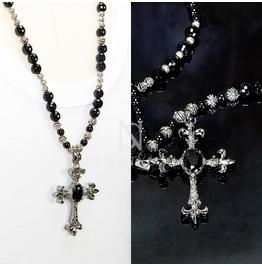 Silver Metal Cross Pendant Biz Necklace 63