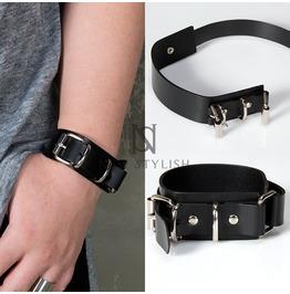 Pin Buckle Leather Wrap Bracelet 77