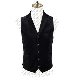 Mens Gothic Steampunk Waistcoat Black Steampunk Wedding Velvet Waistcoat