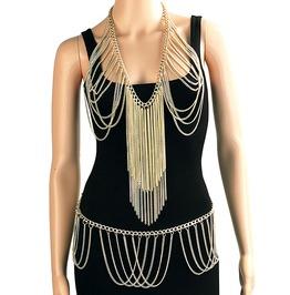 Harness Slave Waist Belt Necklace Chain Bra Body Jewelry Bikini Cover Up