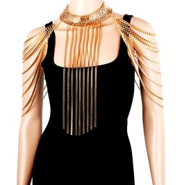 Punk Rock Body Shoulder Chain Necklace Waist Harness Jewelry