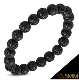10.5mm Fashion Black Coral Beads Stretch Boho Style Bohemian Bracelet