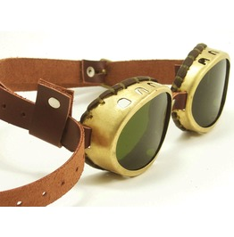Steampunk Goggles Solid Brass Oval Goggles With Tinted Lenses