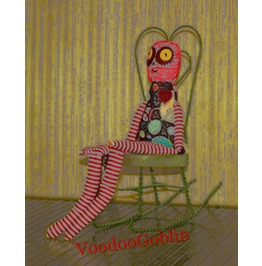 Voodoo Doll Ragged Prudence Mixed Media