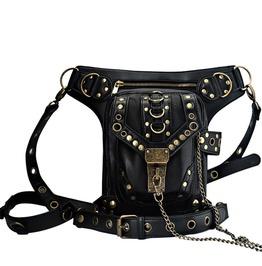 Vintage Steampunk Punk Handbag Waist Pack Shoulder Bag Leg Bag