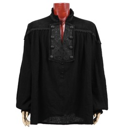 Men Victorian Style Shirt Dragon Elegant Aristocrat Gothic Shirt For Punk M