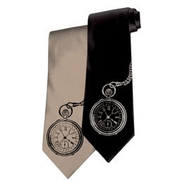 Men's Time Flies Pocket Watch Tie