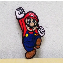 Mario Games Iron On Patch.