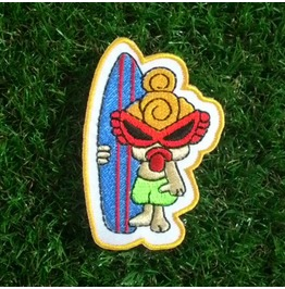 Cute Surf Girl Applique Embroidered Iron On Patch For Kids.