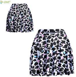 White Leopard Mini S Kirt Print Women's