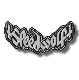 Speed Wolf Embroidered Patch, 9,2 X 4,4 Inch