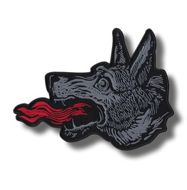 Wolf Head Embroidered Back Patch, 11,2 X 8,8 Inch