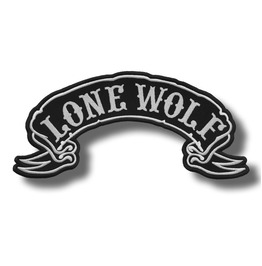 Lone Wolf Embroidered Back Patch, 13 X 6,4 Inch