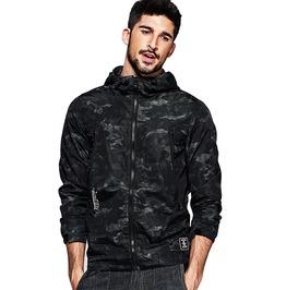 Slim Overcoat Camouflage Hooded Coat Windbreaker Jacket