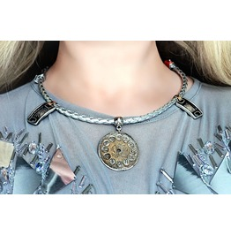 Steampunk Industrial Necklace Space Collar Choker Futuristic Pendant Gift