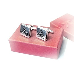 Mens Cufflinks Bdsm Symbol Triskele Triskelion Submissive Dominant Birthday
