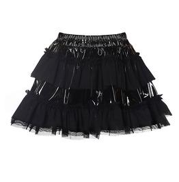 Latex Patched Tutu Skirt Lolita Women's