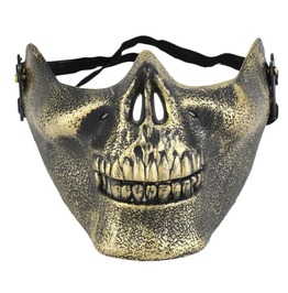 Unisex Skeleton Halloween Mask Bronze S Ilver