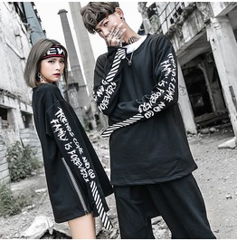 New Hip Hop Street Fashion Letter Printed Causal Sweatshirts Couple Sweats