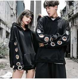 Designer Metal Annulus Men Women Hip Hop Hoodie