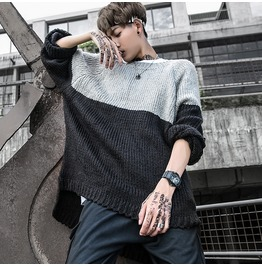 New Autumn Men Sweaters Long Sleeve Loose Casual Knitted Pullover Tops