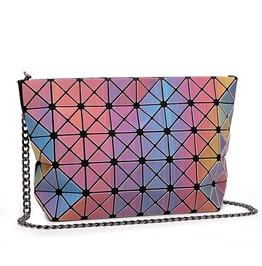 Rainbow Geometric Prism Shoulder Bag Womens