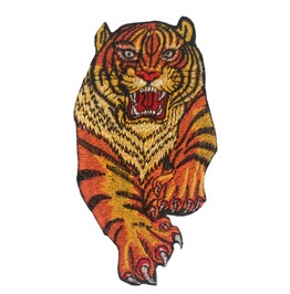 Tiger Patch Iron On Applique Embroidery Patches Embroidered Appliques