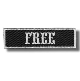 Free Embroidered Patch, 9 X 3 Cm.