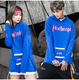 Men's Fashion Printed Hip Hop Hoodies Women's Oversized Hoody