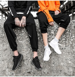 Mens Sports Casual Cotton Sweat Pants Couple Trousers