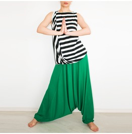 Green Harem Pants, Sweatpants, Harem Trousers, Baggy Trousers, Boho Pants