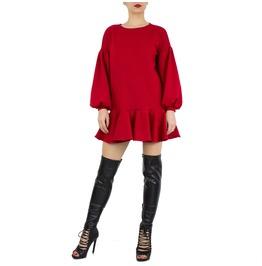 """Sexy Red Dress, Party Dress, Cocktail Dress, Peplum Sweater Dress """"Am"""""""