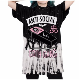 Anti Social Goth Club Skull Story 17 Unisex T Shirt Top Womens Mens