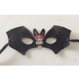 Embroidered Batwing Mask Great For Halloween