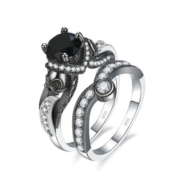 Skull Stone Wedding Engagement Ring
