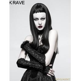 Black Gothic Velvet Glove S 227