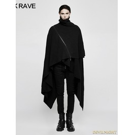 Black Gothic Thick Needle Pullover/Jumpers For Men M 039