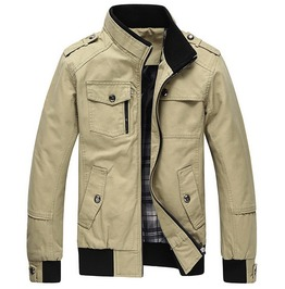 Pockets Design Stand Collar Military Men's Jacket