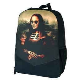 Mona Lisa Skeleton Backpack Rucksack Bag Laptop Tablet Holder Goth