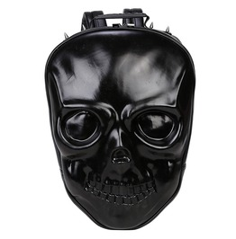 Men Women Skull Head Rivets Spikes Gothic Punk Street Backpack