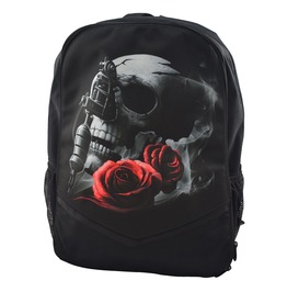 Gothic Backpack Rucksack Bag Laptop Tablet Holder Tattoo Gun Skull And Rose