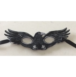 Embroidered Ravens Mask Great For Halloween Small Size For Kids
