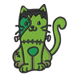 Frankenstein Cat Embroidered Patch