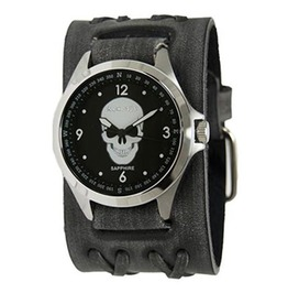 Nemesis Men's Sapphire Crystal Glass Faded Black/Black Skull Style: Fhb250 S
